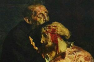 Иван Грозный и умирающий царевич Иван Илья Репин (1844-1930).
