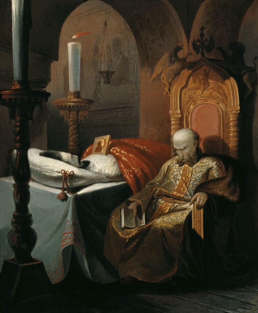 «Иоанн Грозный у гроба убитого им сына» Худ. Ш. Н. Семёнович (1860-е гг.)