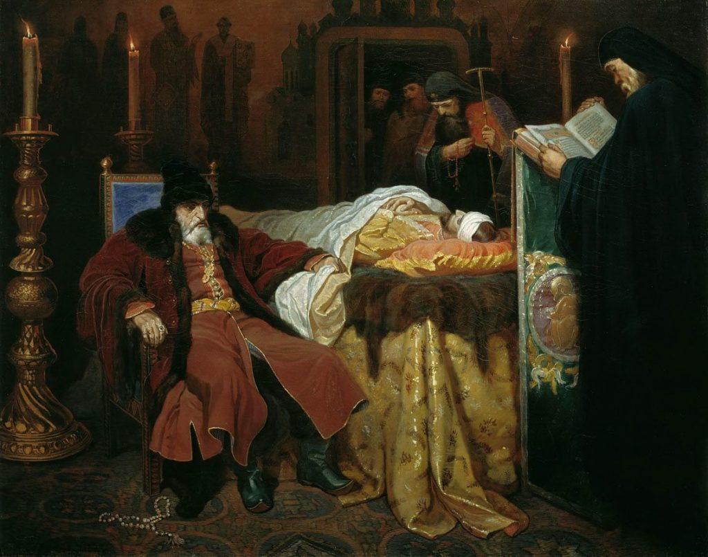 Шварц, Вячеслав Григорьевич — «Иоанн Грозный у тела убитого им сына» (1864).