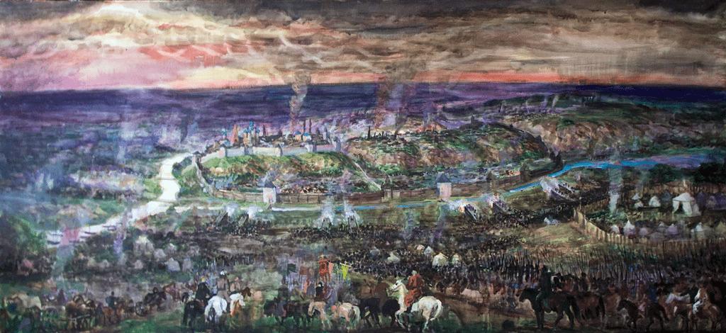 Осада Казани войсками Ивана IV Грозного в 1552 году худ. Халиков Ф.Г., 2007.