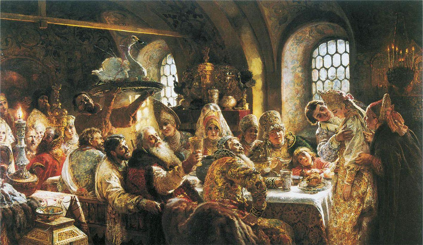 Знатная свадьба, худ. Лебедев