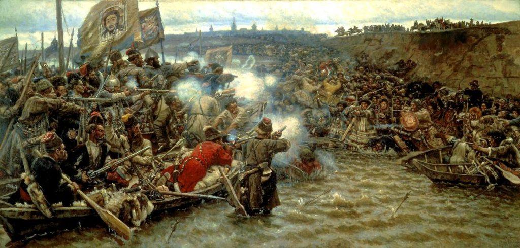 """Картина """"Покорение Сибири Ермаком"""", Суриков, 1895"""